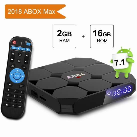 历史新低!GooBang Doo ABOX A1 MAX 4K超高清流媒体播放器/网络电视机顶盒(2GB/16GB)5折 37.49加元包邮!
