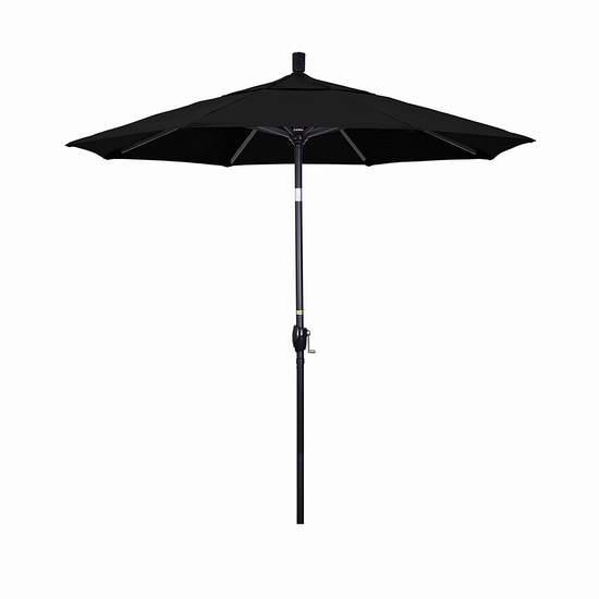 白菜价!California Umbrella 7.5英尺 豪华可倾斜 黑色遮阳伞1.6折 57.69加元包邮!