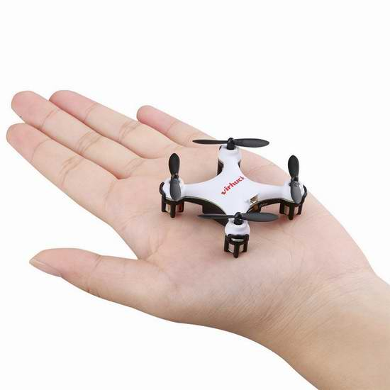 Virhuck GB202 迷你6轴4旋翼无人机 18.69加元限量特卖!黑白两色可选!