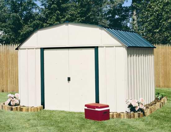 历史新低!Arrow Shed VS1014-D1 10x14英尺 超大钢制庭院储物棚屋5.6折 671.03加元包邮!
