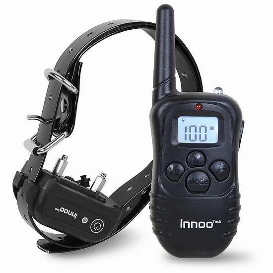 历史新低!Innoo Tech 充电式遥控训狗器3.7折 20.99加元!