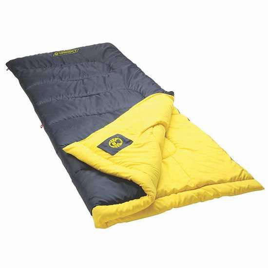 Coleman 2000028253 Palmetto 户外保暖睡袋 35.99加元包邮!