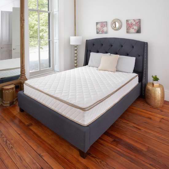 历史新低!Classic Brands Pillow-Top 10英寸Twin弹簧床垫4.5折 159.54加元包邮!