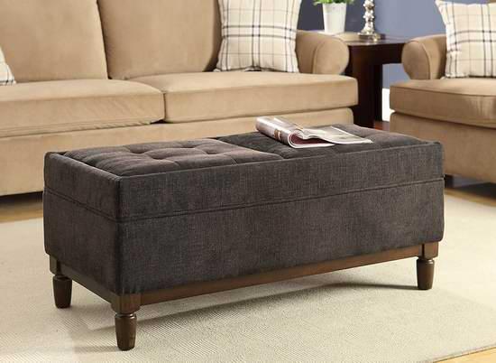 历史新低!Convenience Concepts Sutton 布艺储物脚踏凳2.7折 115.39加元清仓并包邮!