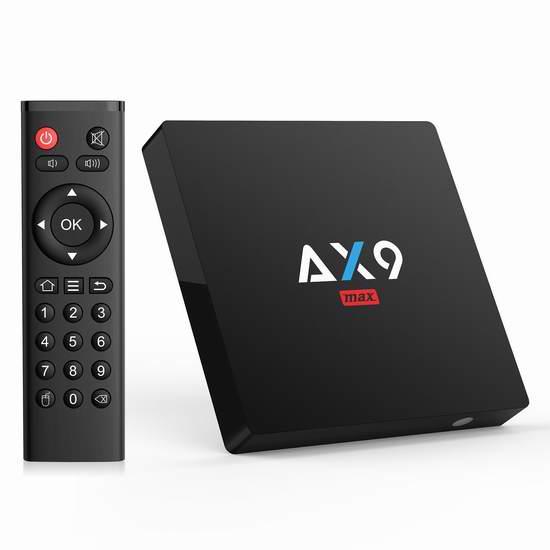 Bqeel AX9 Max 4K超高清流媒体播放器/网络电视机顶盒(2GB/16GB)5折 39.99加元包邮!