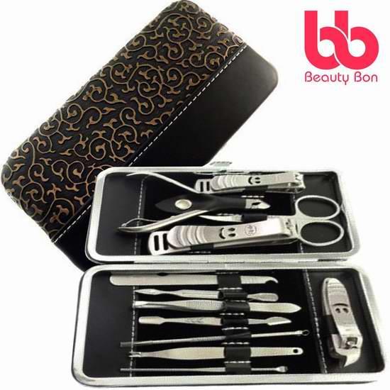 历史最低价!Beauty Bon 不锈钢修甲工具12件套 9.99加元!