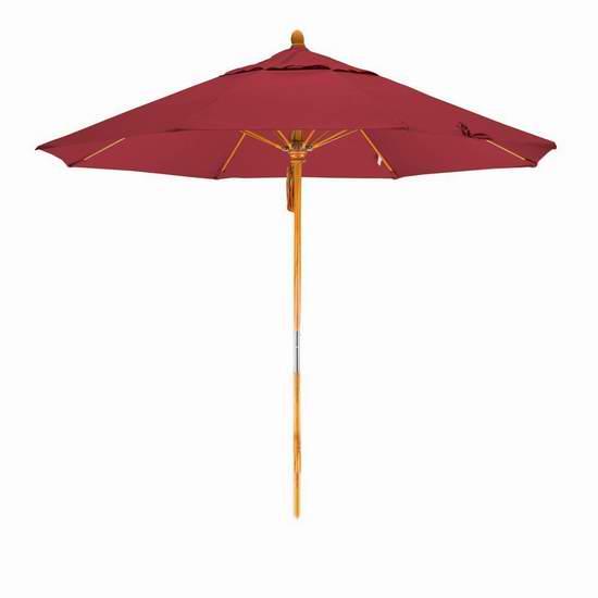 白菜价!历史新低!California Umbrella WOFA908-SA03 豪华9英尺 红色庭院遮阳伞1.4折 54.8加元清仓并包邮!