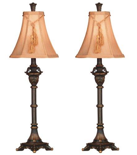 历史新低!Kenroy Home Hunter Rowan Buffet Misc-Home-Décor 复古台灯2件套2.6折 34.25加元清仓!