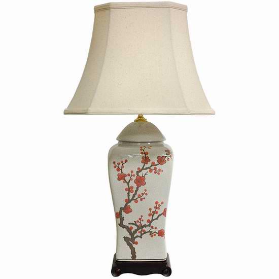 历史新低!Oriental Furniture 中式复古花瓶台灯2.3折 43.79加元清仓并包邮!