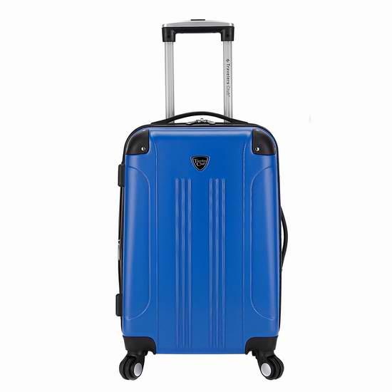 历史最低价!Travelers Club Luggage Chicago 20寸可扩展硬壳拉杆行李箱/登机箱3.4折 36.99加元包邮!会员专享!