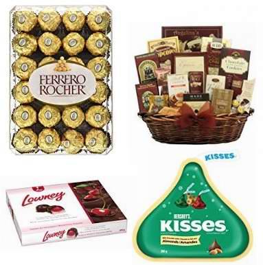金盒头条:精选32款 Ferrero、Kisses、Hershey's 等品牌巧克力、糖果及礼品篮3.8折起!售价低至1.54加元!