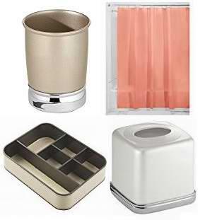 精选208款 InterDesign 纸巾盒、香皂盒、浴帘、信件箱、挂钩、牙刷架、收纳盒、收纳筒等1.6折起清仓!售价低至2.24加元!