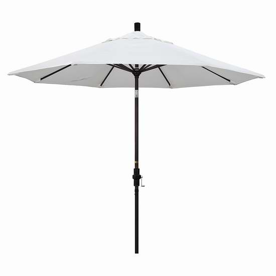白菜价!历史新低!California Umbrella GSCU908117-F04 9英尺豪华可倾斜庭院遮阳伞1.7折 54.39加元包邮!