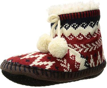 Muk Luks 女式時尚毛線保暖拖鞋3.7折 11加元起!9色可選!