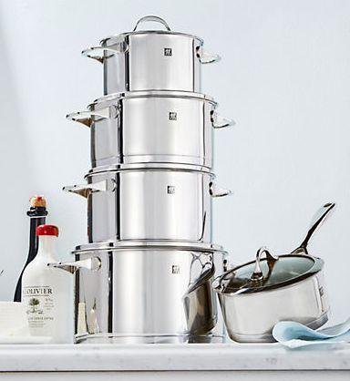 ZWILLING J.A.HENCKELS 双立人 Essence 不锈钢锅具10件套3折 297.49加元包邮!