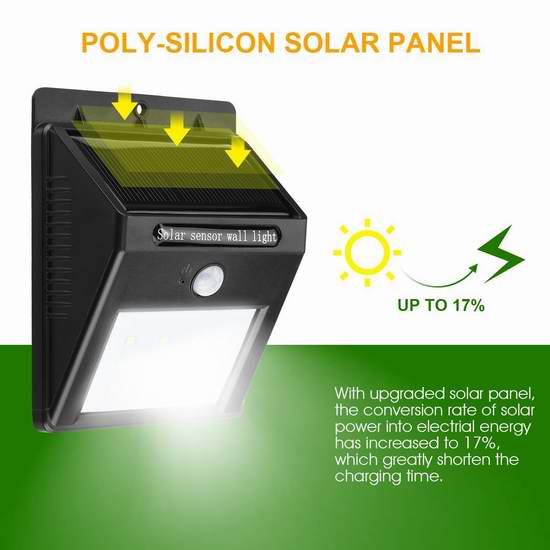 白菜速抢!Lampwin 12 LED 太阳能防水运动感应灯 5.7加元清仓!买2个11.39加元包邮!