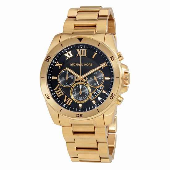 历史新低!Michael Kors MK8481 三眼计时 男士金色腕表/手表4.6折 178.59加元包邮!