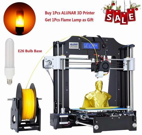 ALUNAR Prusa Reprap I3 3D打印机DIY套件 284.75加元限量特卖并包邮!