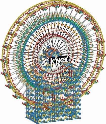 历史新低!K'nex 益智拼插积木 1.96米 超大型摩天轮(8550pcs)3.8折 213.76加元包邮!