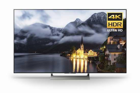 历史最低价!2017版 Sony 索尼 XBR55X900E HDR 55英寸 4K超高清液晶电视4折 1298加元包邮!