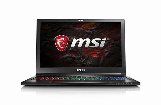 历史新低!MSI 微星 GS63 7RD-072CA STEALTH 15.6寸游戏笔记本电脑 1499.99加元包邮!