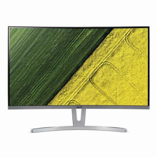 金盒头条:历史新低!Acer 宏碁 ED273 wmidx 27寸窄边VA广视角 护眼曲面显示器5折 199.99加元包邮!