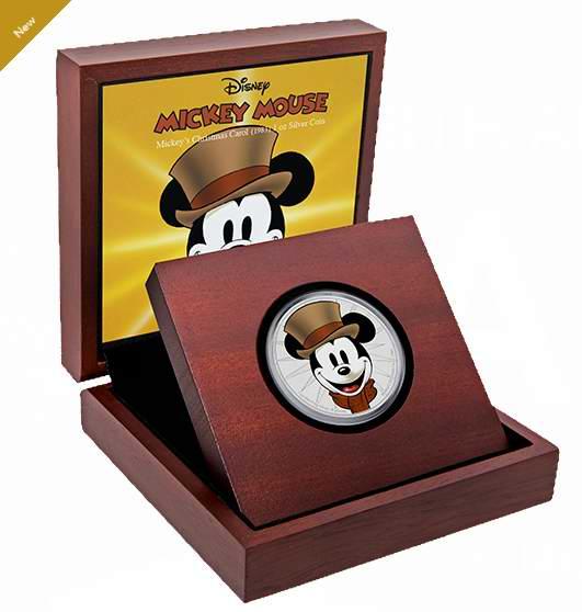 新品发售!Disney 迪士尼 Mickey Mouse Through the Ages 米奇的圣诞颂歌 纯银纪念币(1盎司) 119.95加元包邮!