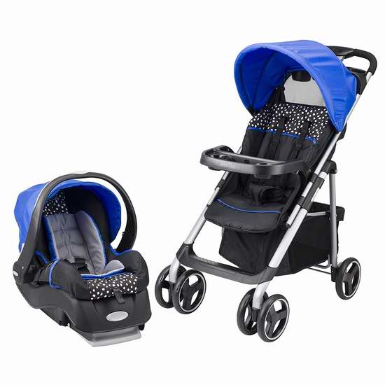 历史新低!Evenflo Vive 婴儿推车+提篮安全座椅旅行套装4.9折 147.99加元包邮!