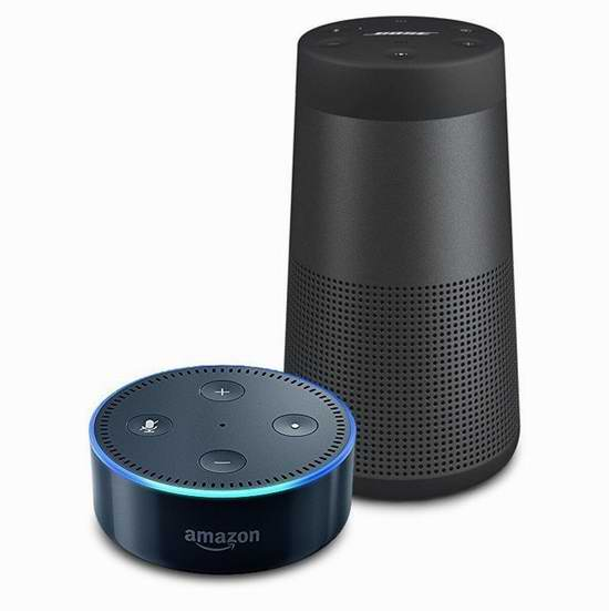 Bose SoundLink Revolve 蓝牙无线音箱 249加元包邮!送Echo Dot亚马逊第二代智能家居语音机器人!