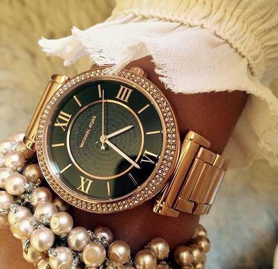 Michael Kors MK3356 Catlin Pavé Onyx 玫瑰金 满天星璀璨晶钻 时尚腕表5折 194.25加元包邮!