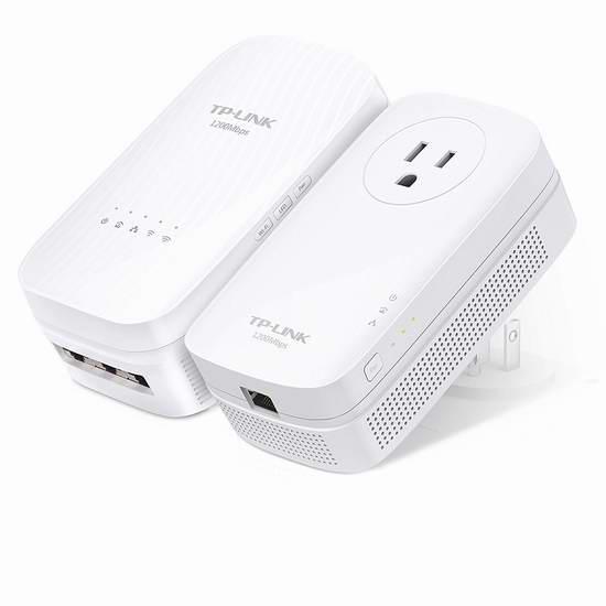 历史新低!TP-Link AC1200 TL-WPA8630 无线信号延伸 电力线网络适配器/电力猫套装5.2折 119.97加元包邮!