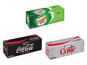精选 Coca-Cola可口可乐无糖汽水、Diet Coke健怡可乐、Canada Dry加拿大姜汁汽水(355ml x 12罐)5.3折 3.6加元!