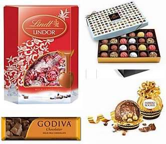 精选165款 Godiva、Ferrero、Lindt 等品牌巧克力、糖果、饼干等4折起!