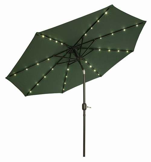 历史新低!Trademark Innovations 9英尺可倾斜太阳能LED照明庭院遮阳伞3.7折 47.53加元包邮!