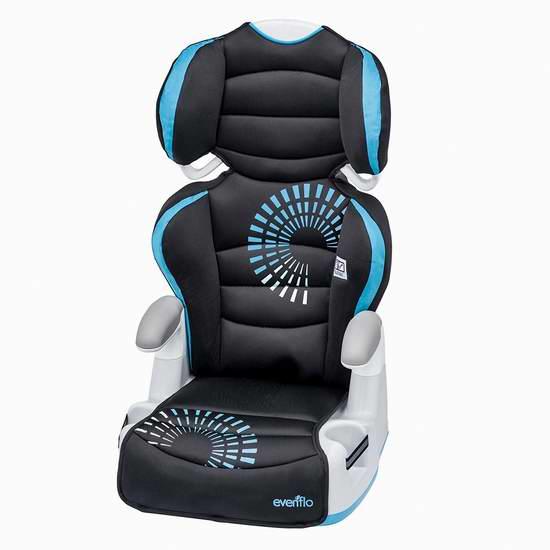 Evenflo 二合一 儿童加高安全座椅 54.97加元(2色可选),原价 74加元,包邮