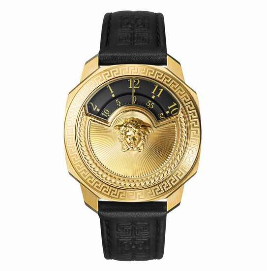 历史新低!Versace 范思哲 VQU020015 Dylos Icon 女士镀金复古旋转Logo腕表/手表3.7折 807.53加元包邮!