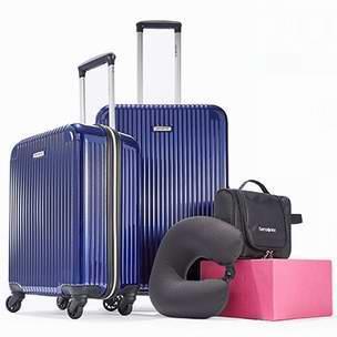 今日闪购:Samsonite 新秀丽 硬壳/软壳拉杆行李箱4件套2.5折 162.5加元包邮!4色可选!