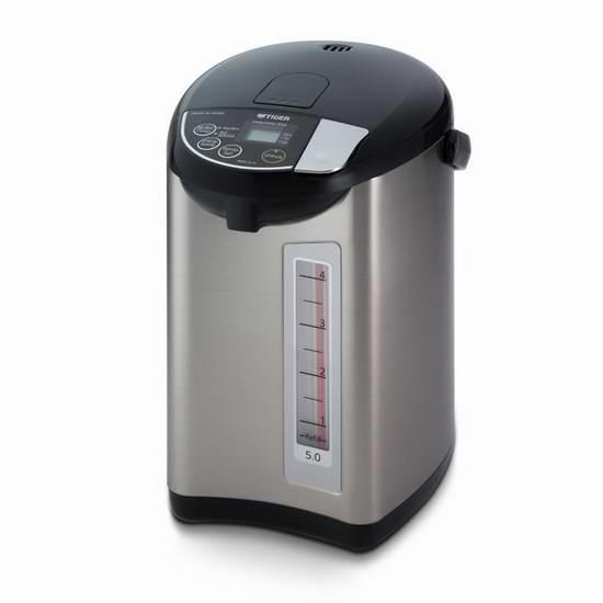 历史最低价!Tiger 虎牌 PDU-A50U-K 5升 不锈钢电热水壶6.3折 209.98加元包邮!