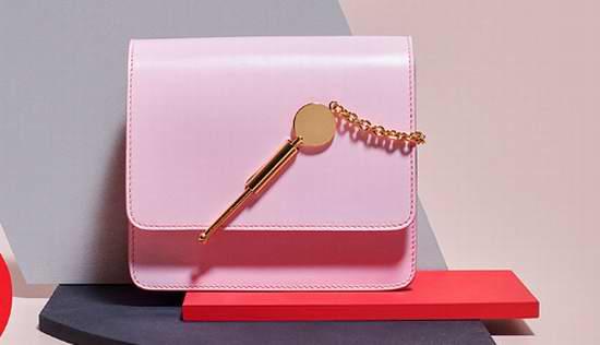 Sophie Hulme 新款中号粉色钥匙包 7.7折 751加元,原价 975加元,包邮,小号钥匙包也打折!