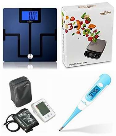 金盒头条:精选6款 Easy@Home 智能蓝牙体重秤、厨房秤、血压计、数字式体温计、早孕试纸等特价销售!