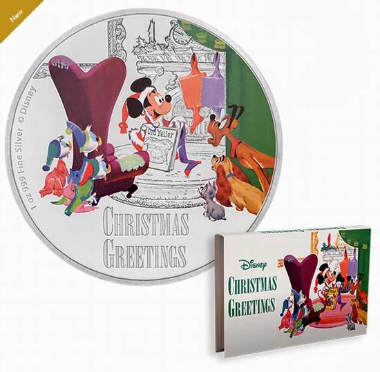 新品发售!Disney 迪士尼欢乐圣诞 纯银纪念币(1盎司) 119.95加元包邮!