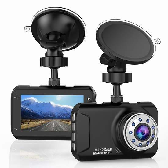 T-mars 1080P 全高清超大广角 行车记录仪 44.99加元限量特卖并包邮!