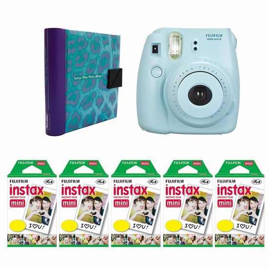 历史新低!Fujifilm 富士 Instax Mini 8 小巧可爱拍立得相机+100底片+相册超值装 133.46加元包邮!