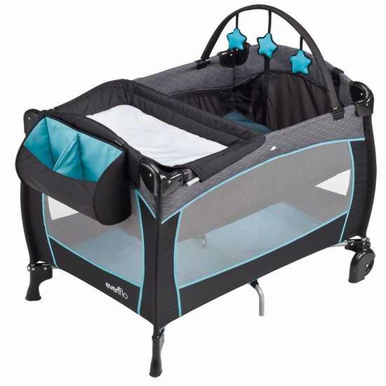 历史最低价!Evenflo 便携式豪华婴幼儿游戏床6折 89.99加元包邮!