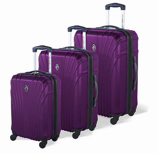 白菜价!历史新低!Atlantic AL43083010 Beaumont 时尚紫色硬壳拉杆行李箱3.4折 97.64-122.05加元包邮!