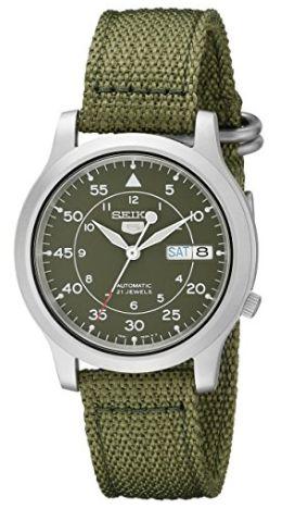 历史新低!Seiko 精工5号 SNK805 男士自动机械腕表/手表 52.99加元包邮!