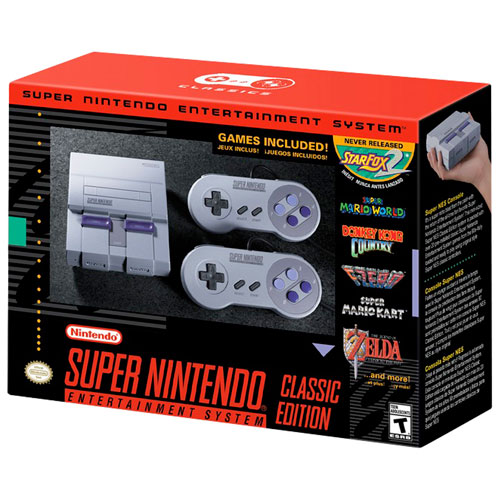 Nintendo 任天堂 Super NES Classic 迷你版超任游戏机 99.99加元包邮!今日下午4点上货开抢!