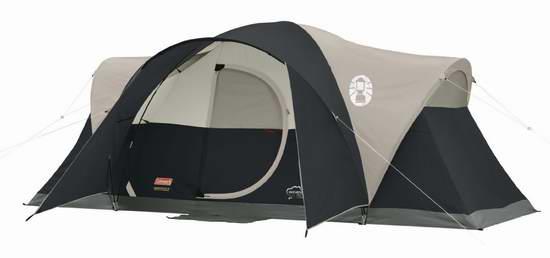 历史新低!Coleman Montana 超大8人 黑色家庭野营帐篷4折 92.68加元包邮!