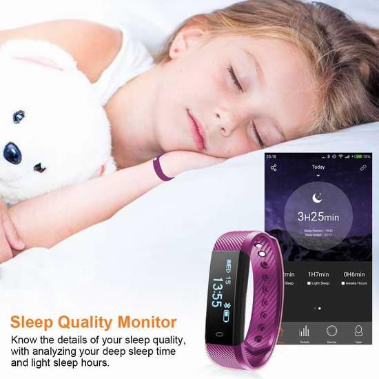 白菜速抢!DIGGRO ID115HR 心率睡眠监测 蓝牙智能手环 12加元清仓并包邮!仅剩最后一色!