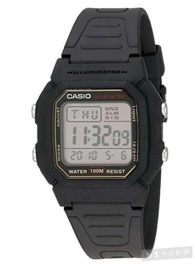 Casio W800HG-9AV 男士经典运动手表 14.6加元,原价 34.99加元